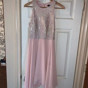 small pink Le Chateau dress
